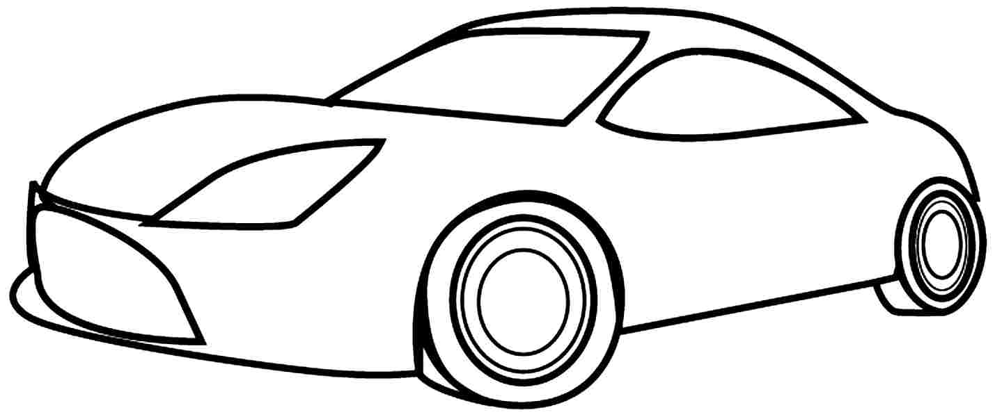 simple coloring pages - Simple Pictures To Color