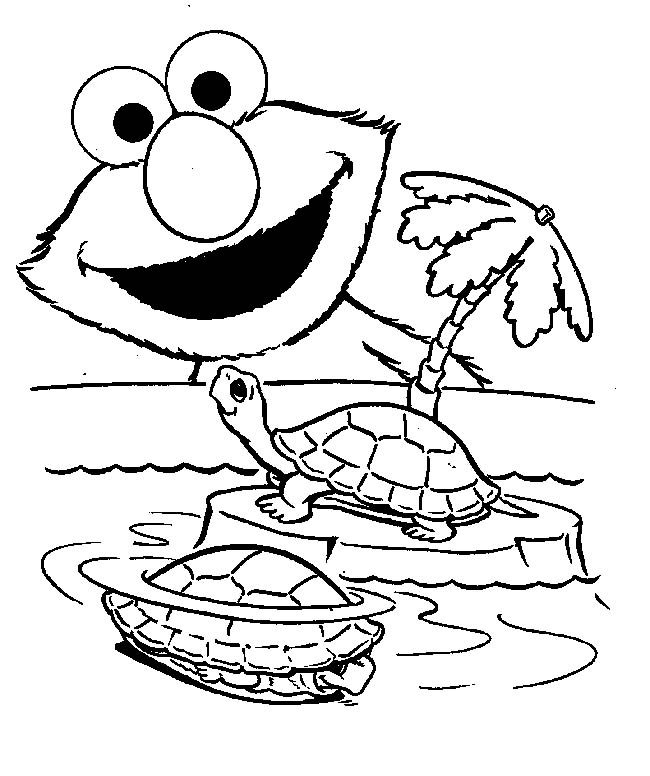 Free Elmo coloring pages to print for kids. Download, print and color!