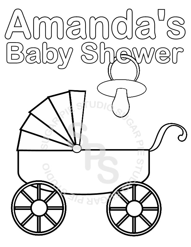 Bonito Baby Shower Coloring Pages Chupete Viñeta - Dibujos Para ...