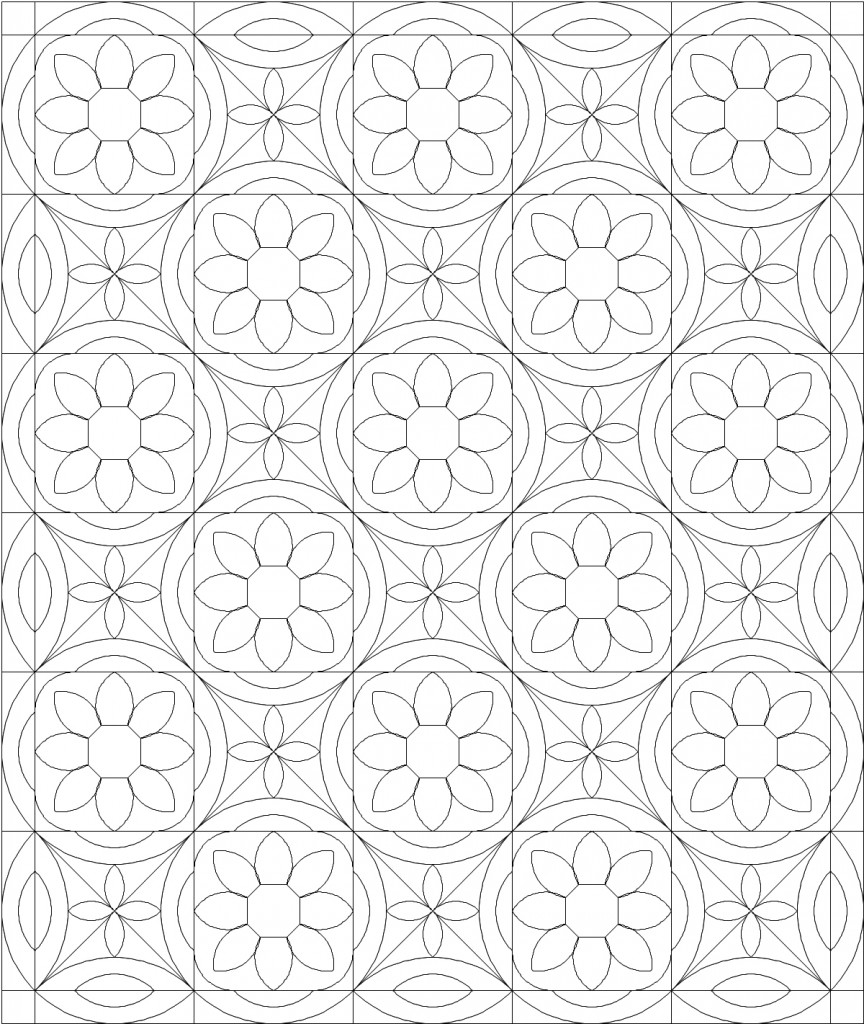 Quilt coloring pages to download