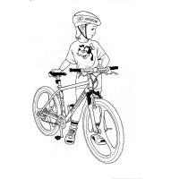 Bicycle coloring pages
