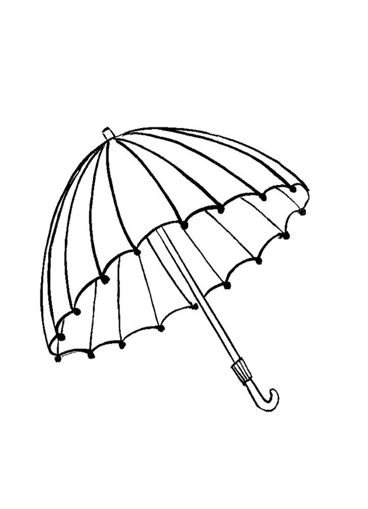 umbrella coloring pages - Umbrella Coloring Pages 2
