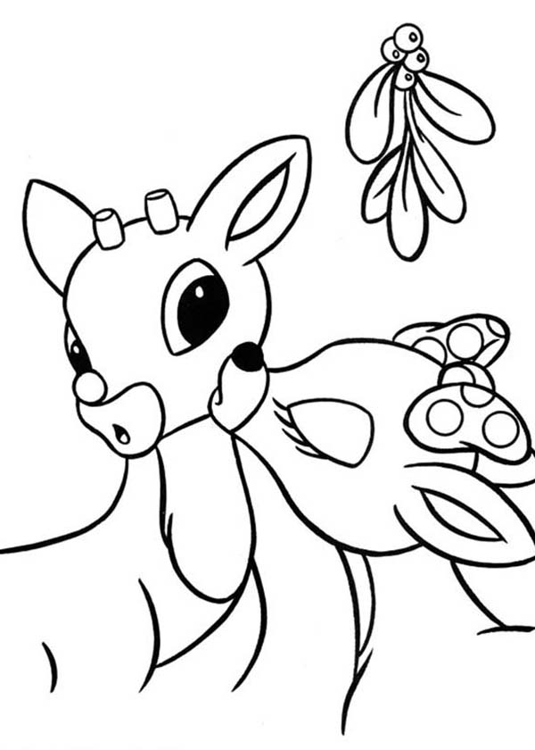 Rudolph reindeer coloring pages download and print for free