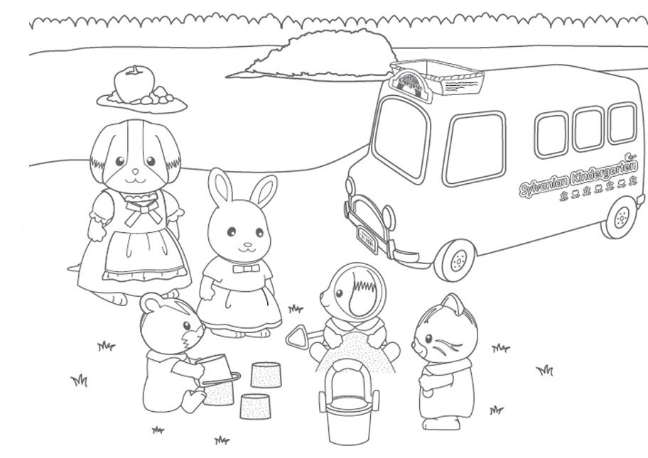 Calico critters coloring pages to download and print for free for Little critter coloring pages