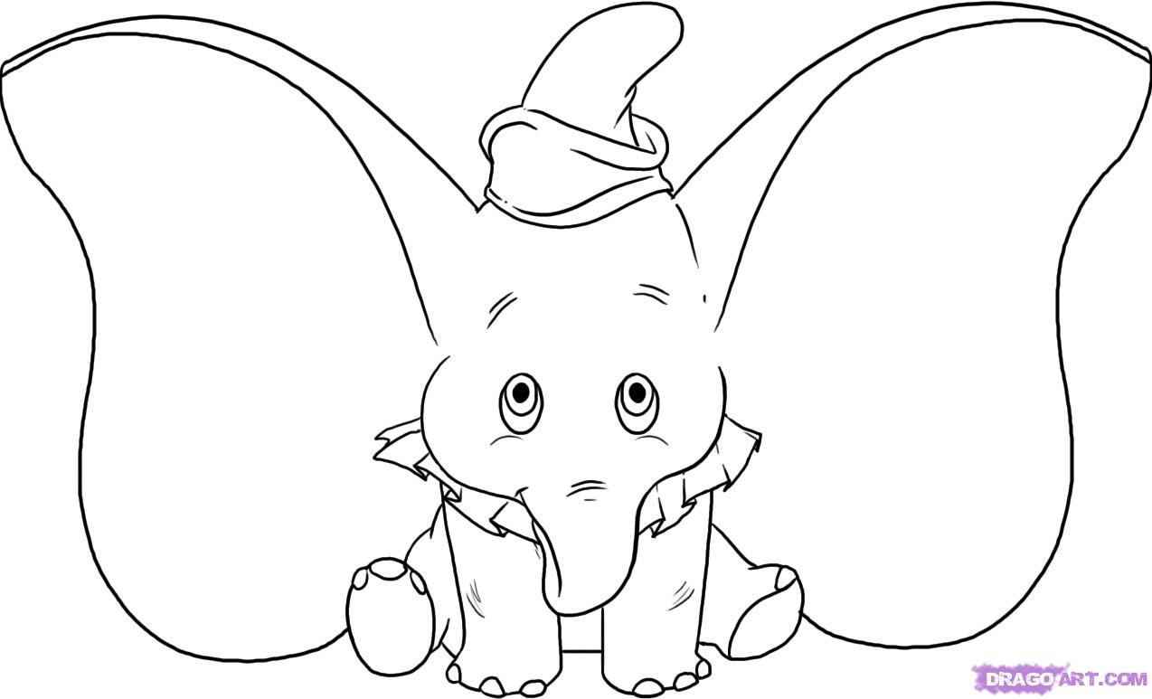 baby elephant coloring pages - Elephant Coloring
