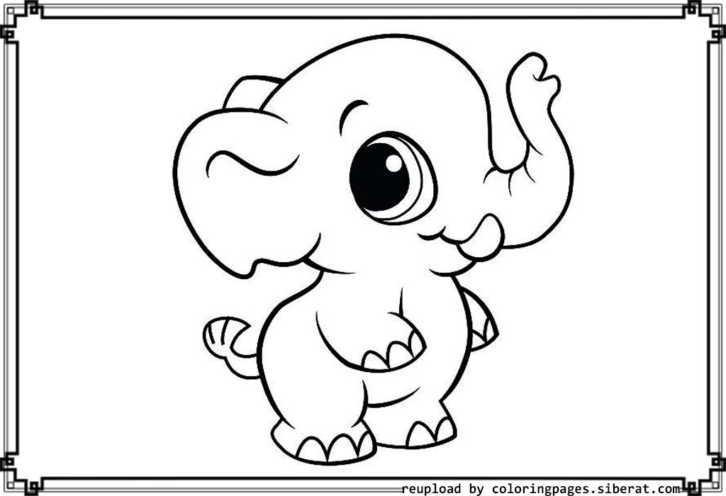 elephant coloring pages to download and print for free