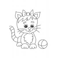 Cute cat coloring pages
