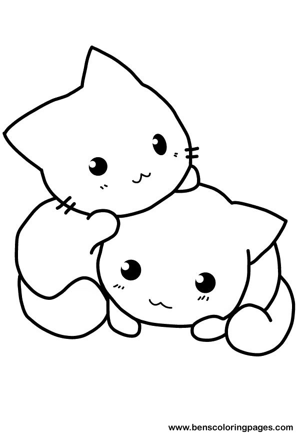 cat coloring pages to download and print for free