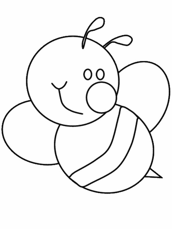 Awesome Cute Bumble Bee Coloring Pages