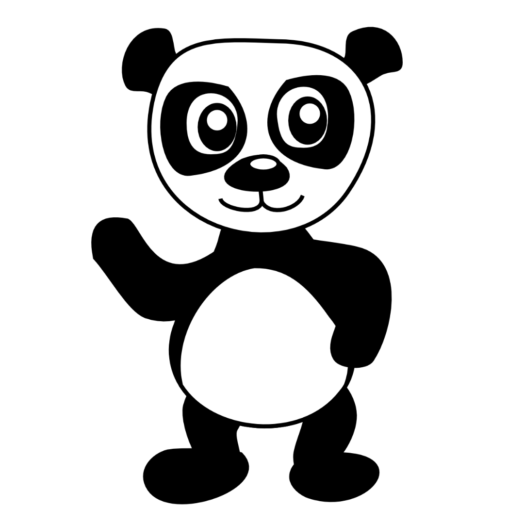 Panda bear coloring pages to download