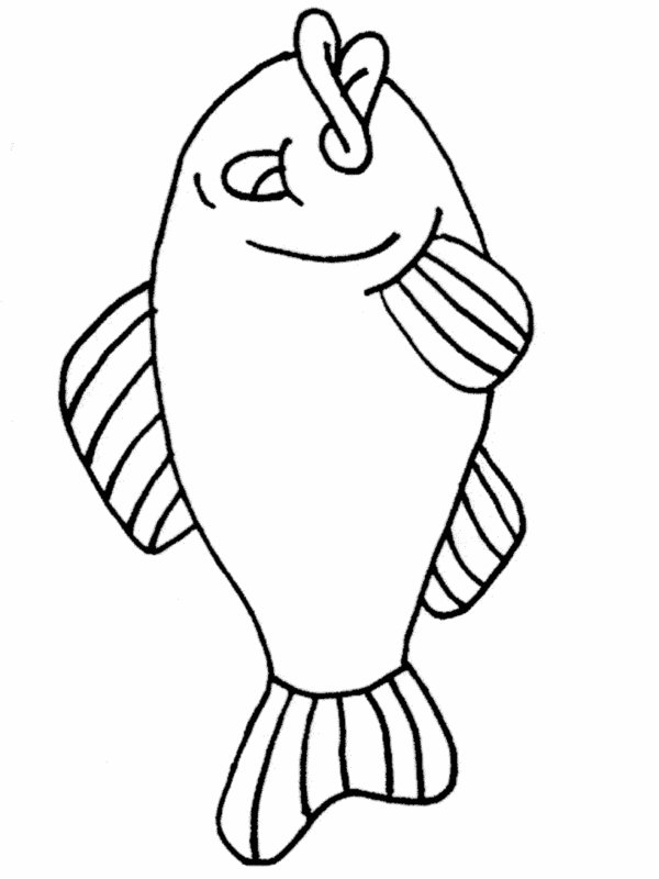 Simple fish coloring pages download and print for free