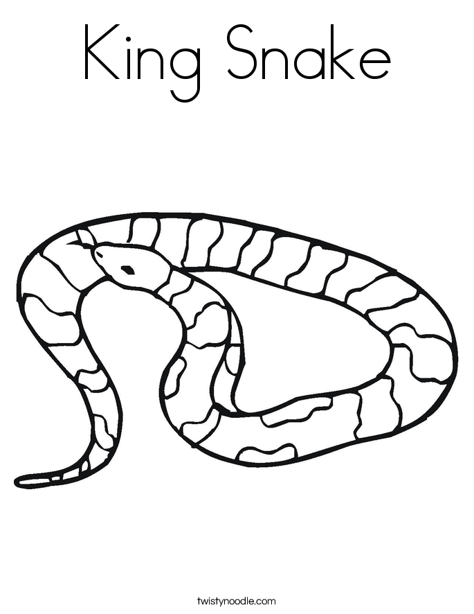 Free coloring page snake - a-k-b.info