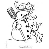 Cute kitten coloring pages