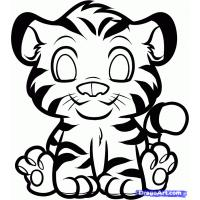 Baby tiger coloring pages