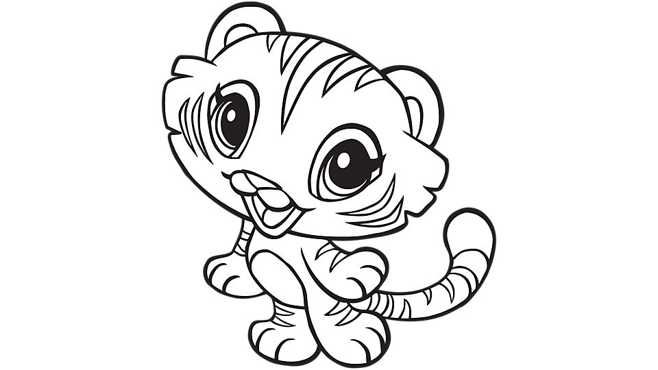 Baby tiger coloring pages to download and print for free