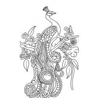 Peacocks coloring pages