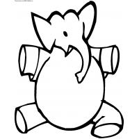 Elephant coloring pages