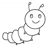 Caterpillar coloring pages
