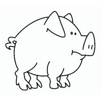 Pigs and piglets coloring pages
