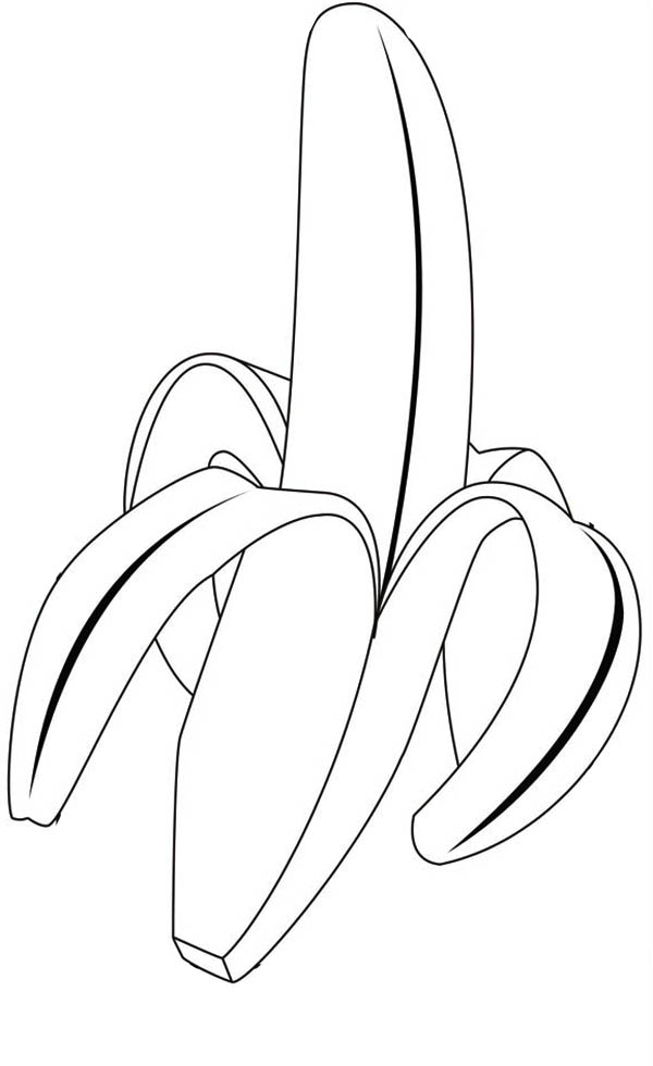 Banana coloring pages to download