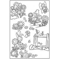 Flower garden coloring pages