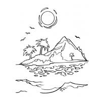 Sunset coloring pages