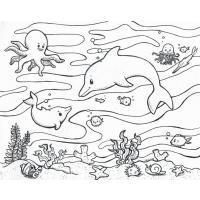 Underwater coloring pages