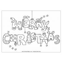 Happy christmas coloring pages
