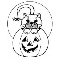 Halloween scary cat coloring pages