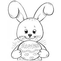 Easter bunny coloring pages to print