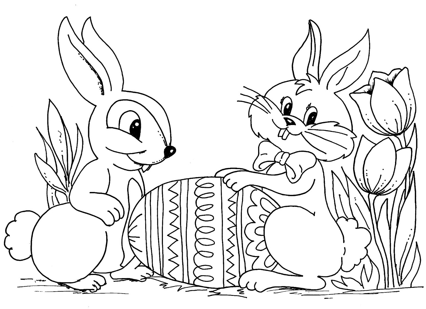 easter bunny coloring pages to print to download and print for free