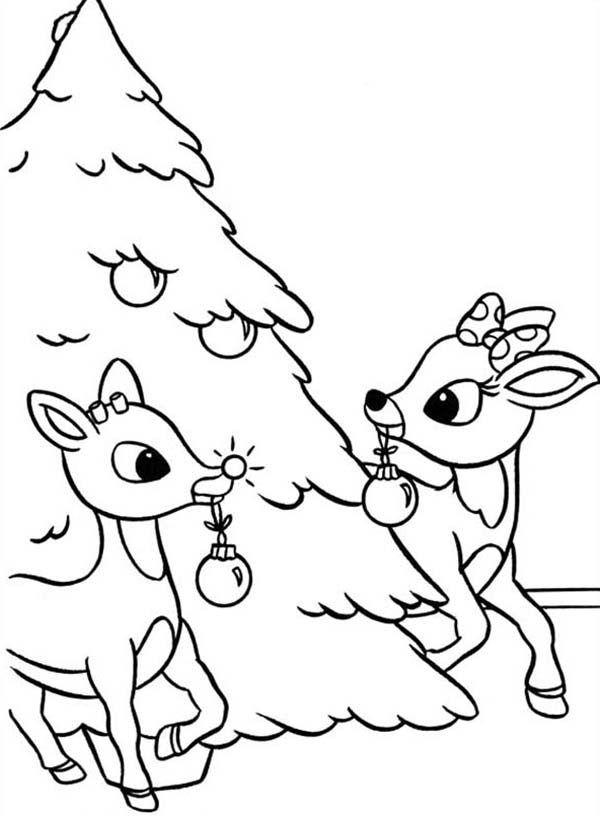 Christmas rudolph coloring pages for preschoolers ~ Rudolph coloring pages to download and print for free
