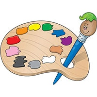 Paints coloring pages