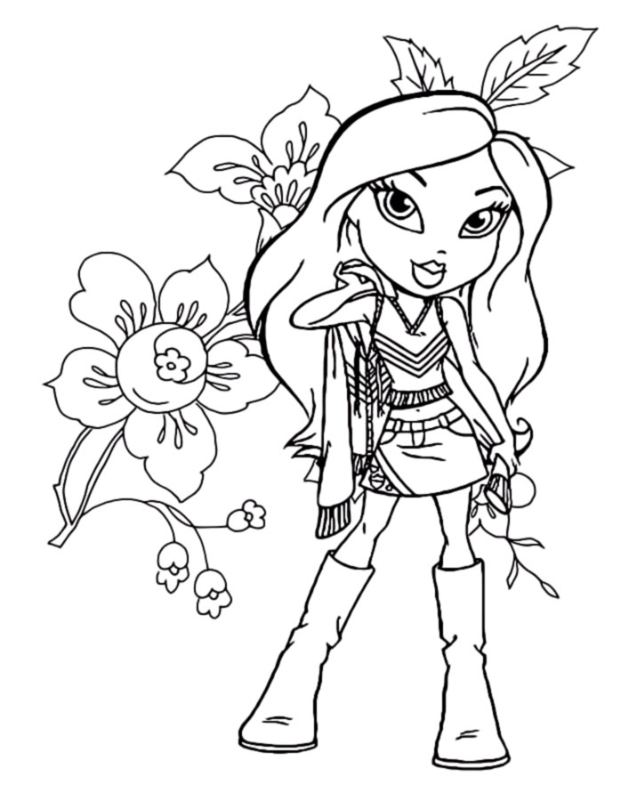bratz and princesses coloring pages - photo#16