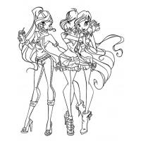 Winx Season 5 coloring pages