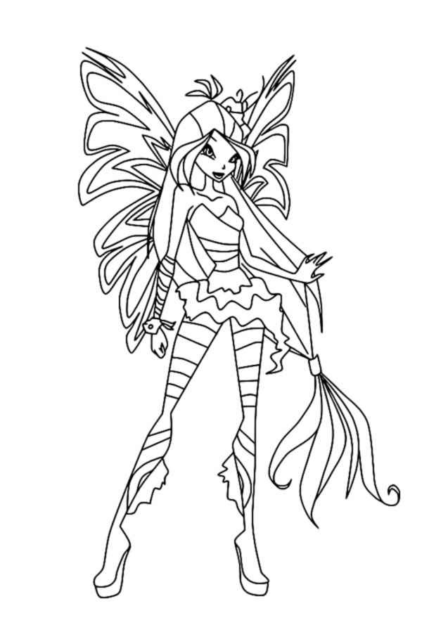 winx daphne sirenix coloring pages | Winx Sirenix coloring pages