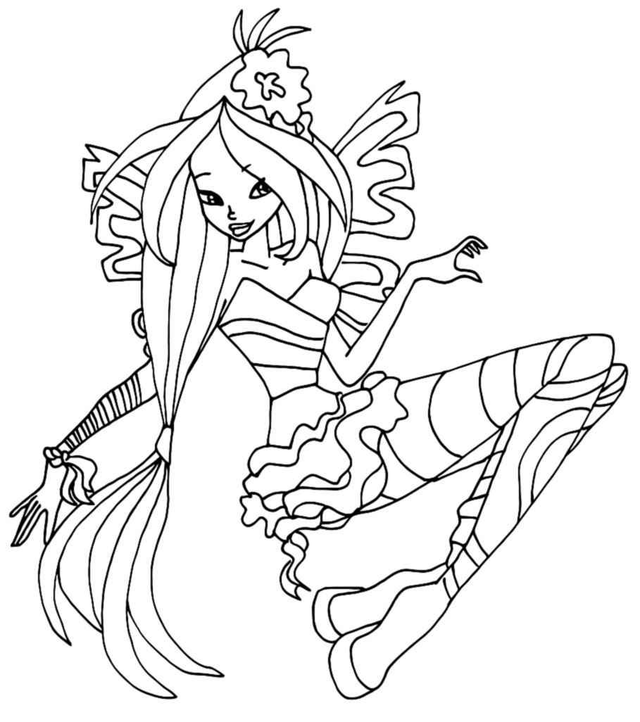 Winx sirenix coloring pages for Disegni winx sirenix da colorare
