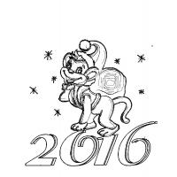 Coloring for the new year 2016 monkeys