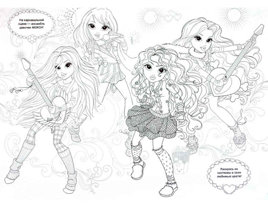 Moxie Girlz Coloring Pages 9 | 700x900