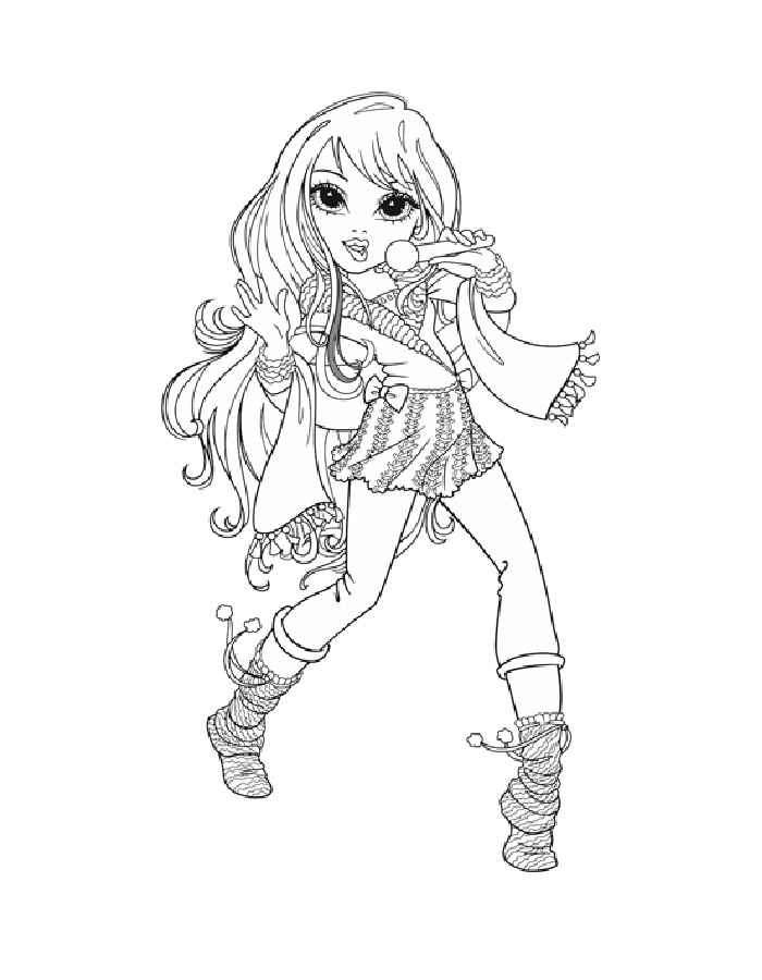 Free moxie girls coloring pages ~ Moxie Girlz coloring pages