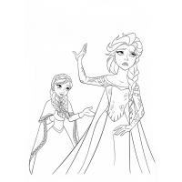 Elsa coloring pages
