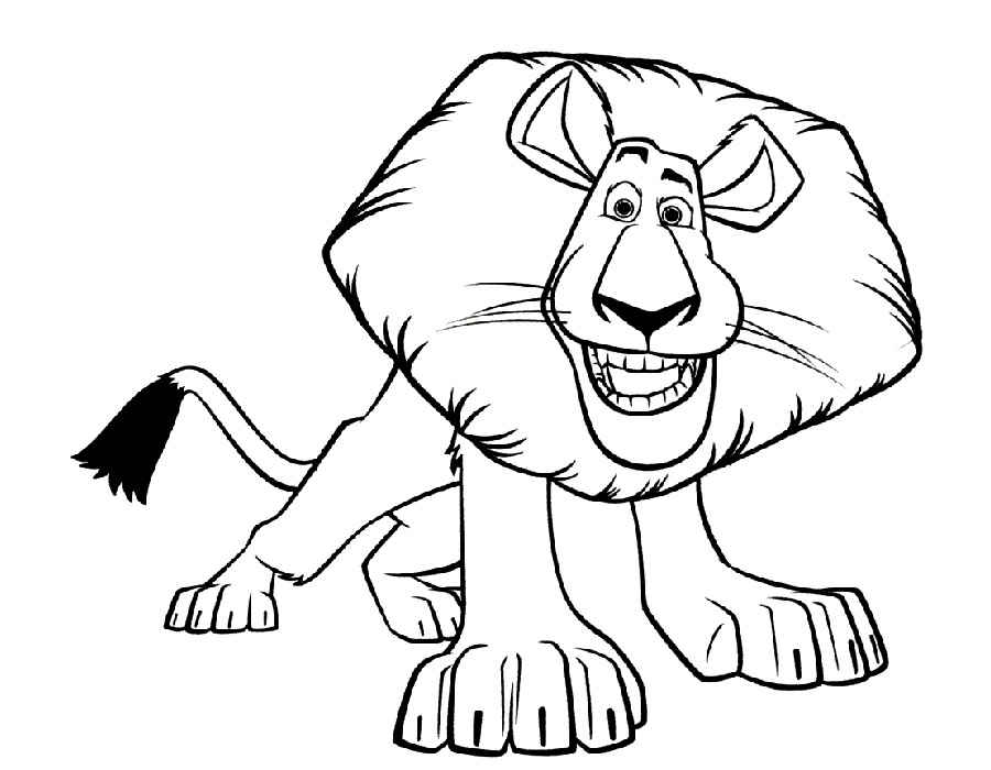 Madagascar coloring pages Cartoon character coloring pages for kids