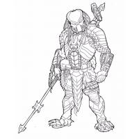 Predator coloring pages