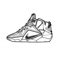 Basketball shoe coloring pages