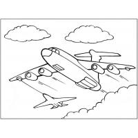 Airplane coloring pages