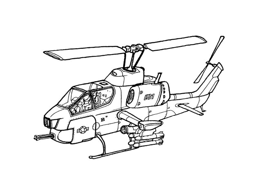coloring pages helicopter - photo#23