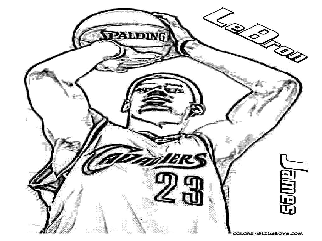 free coloring pages of lebron - photo#11