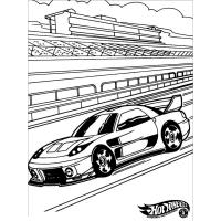 Hot wheel coloring pages