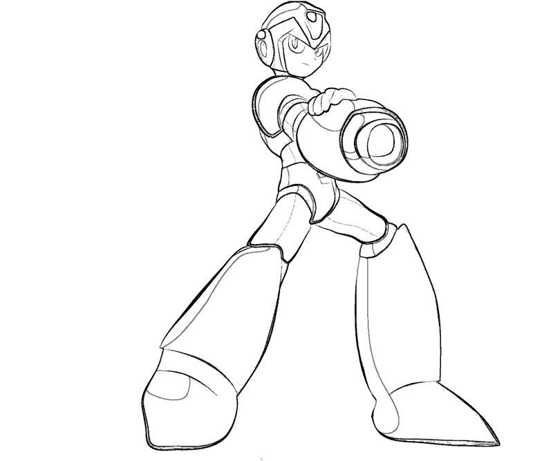 Mega Man Coloring Pages