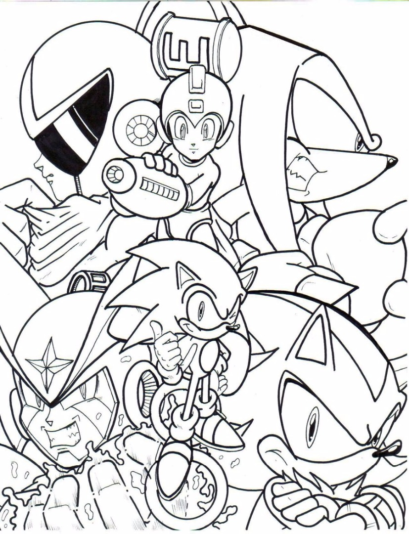Mega man coloring pages